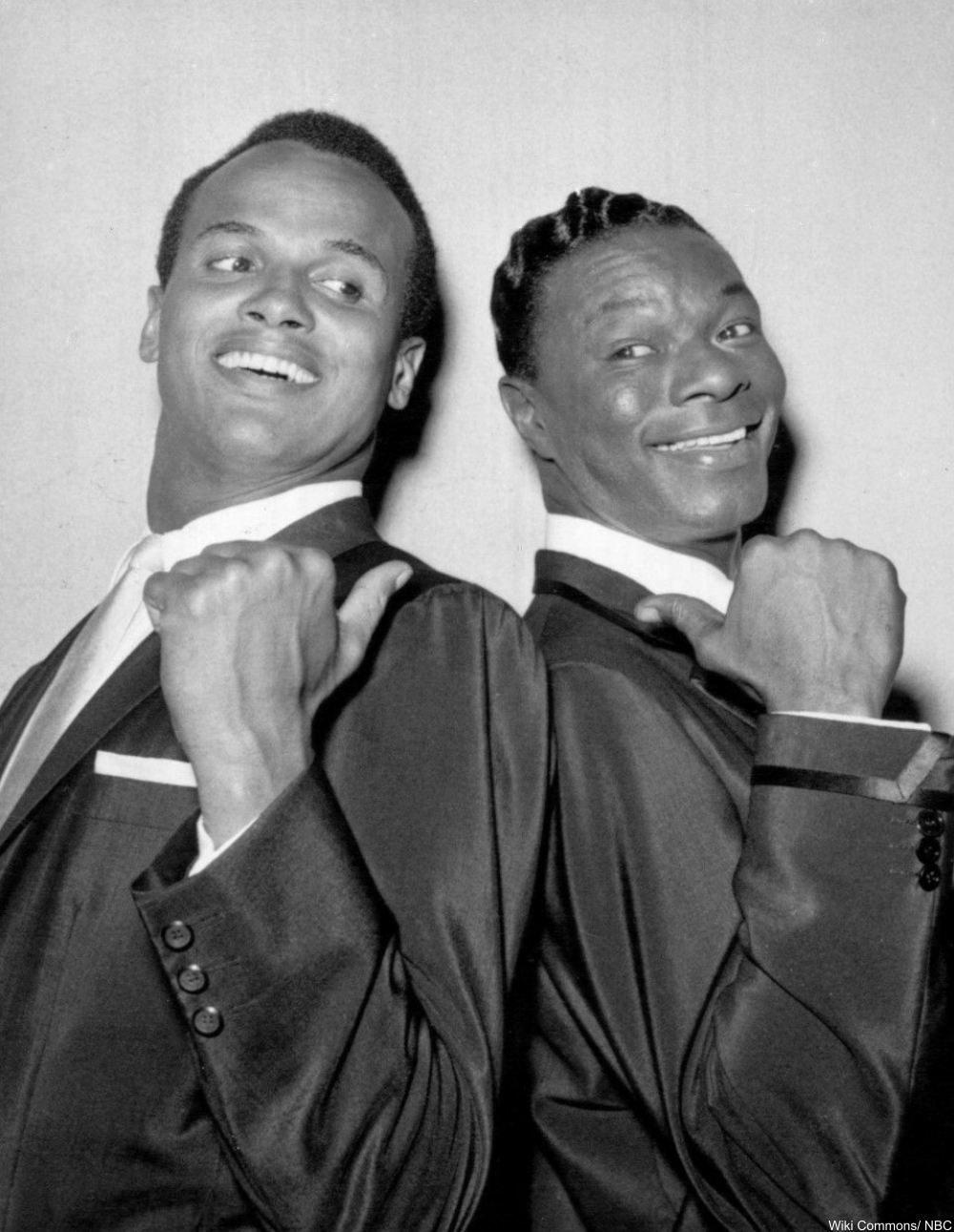 two handsome fellas, Nat King Cole and Harry Belafonte