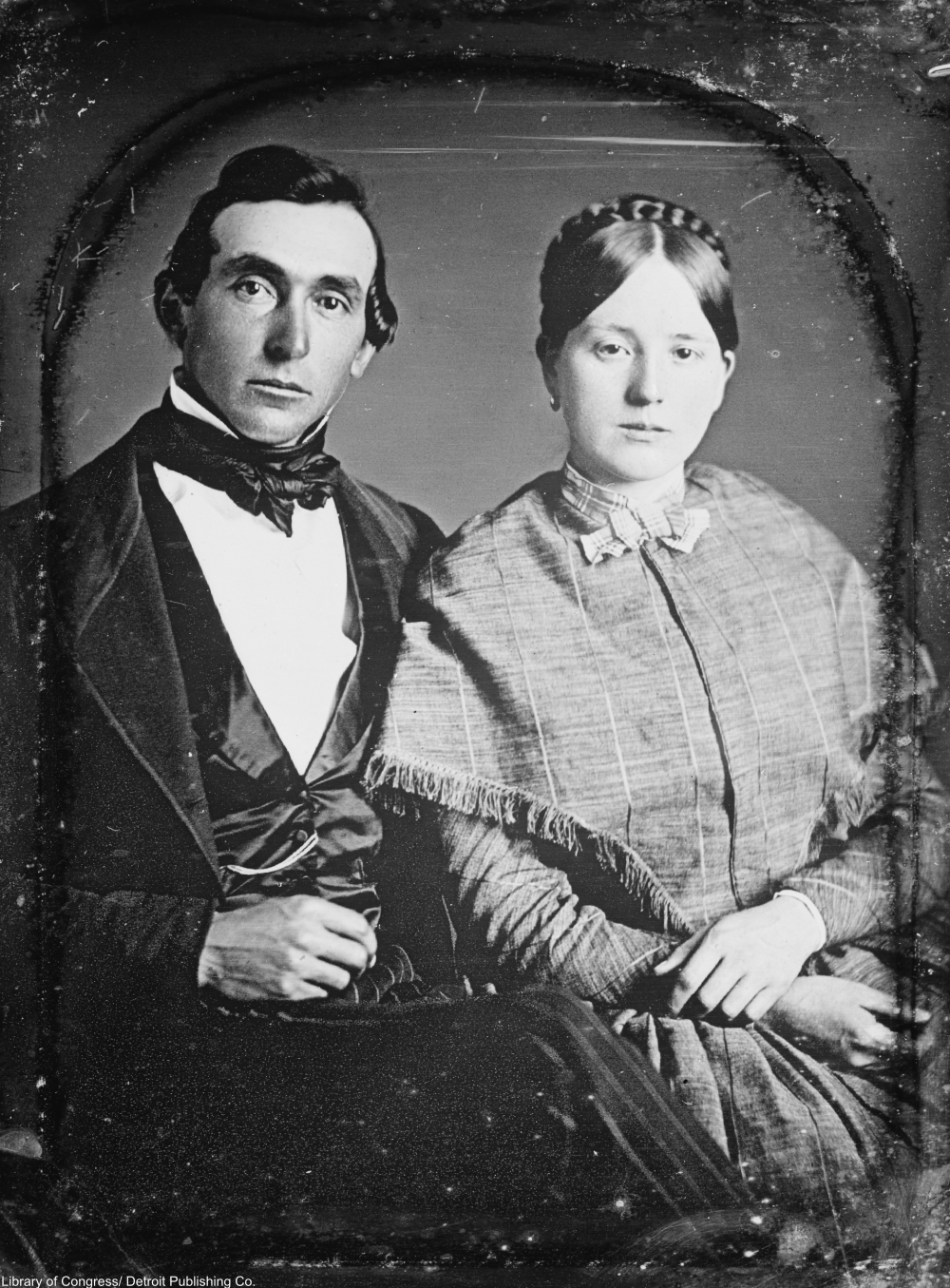 handsome young Victorian couple