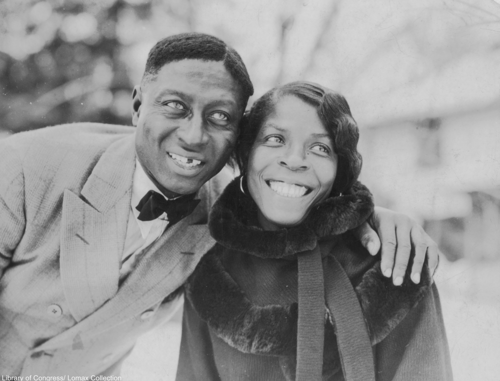 Huddie Ledbetter and his wife Martha in 1935
