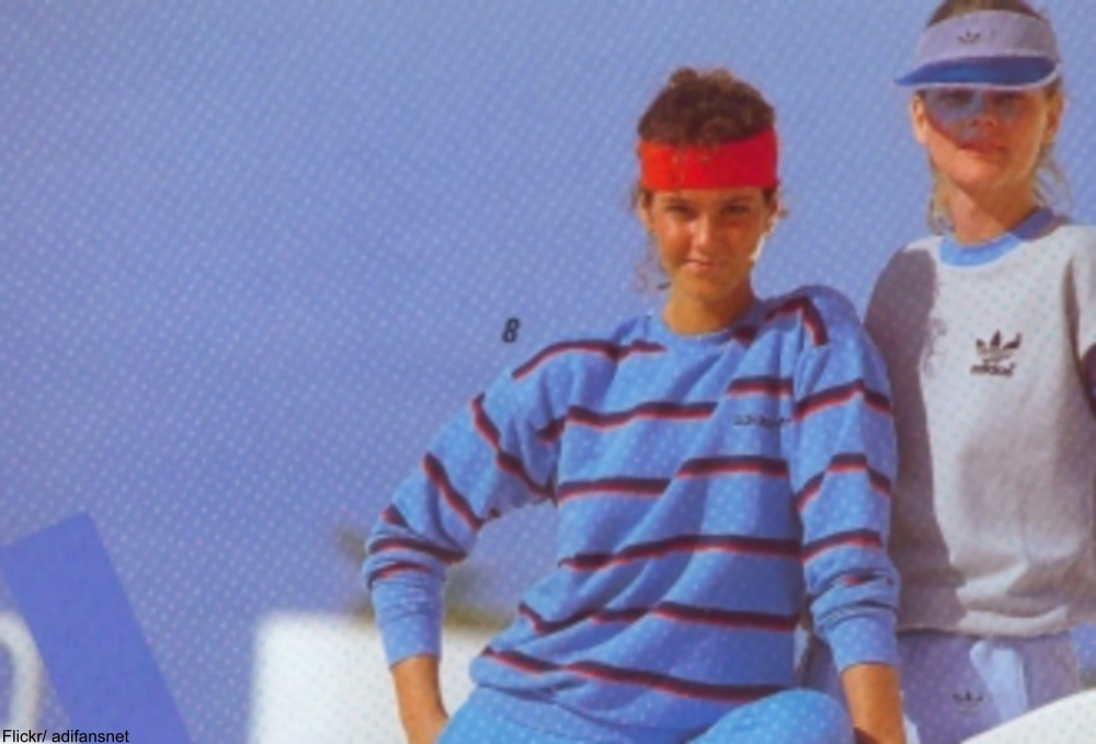 headbands were an essential in the 1980s
