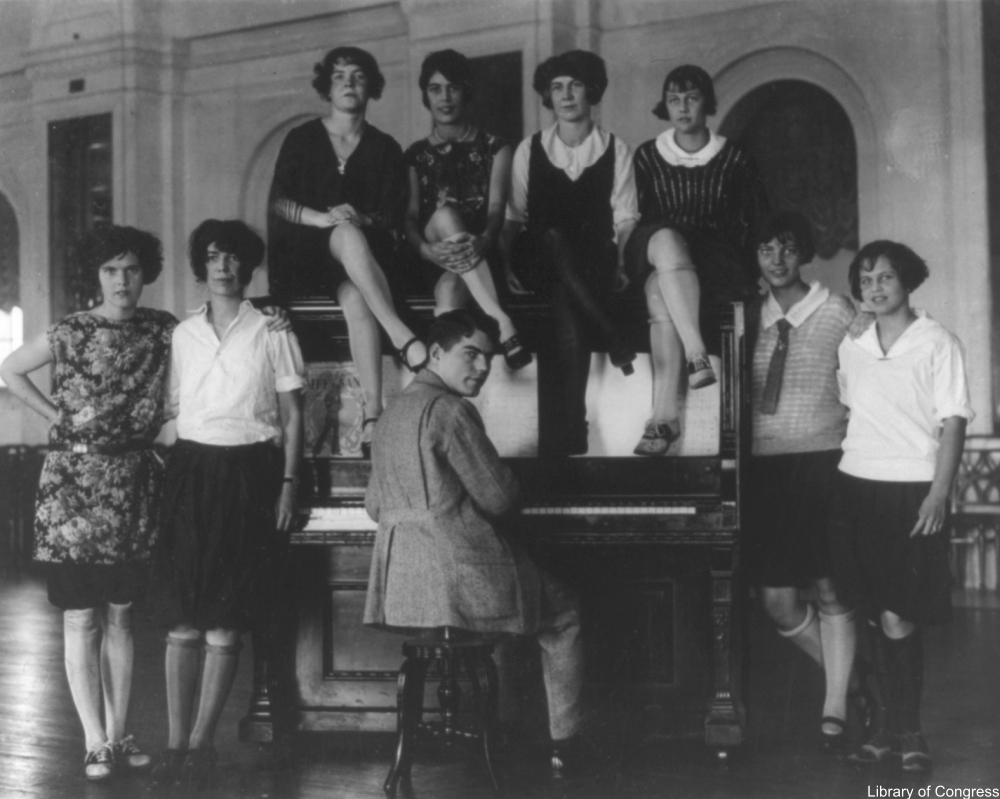 flappers on a piano
