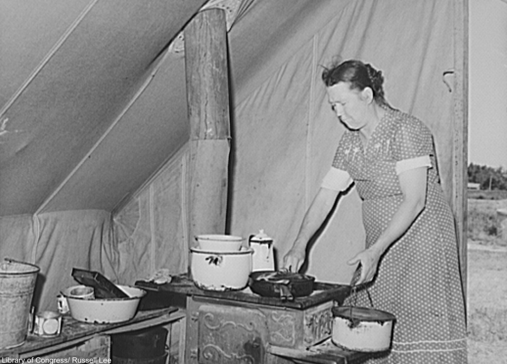 making stew during the Great Depression