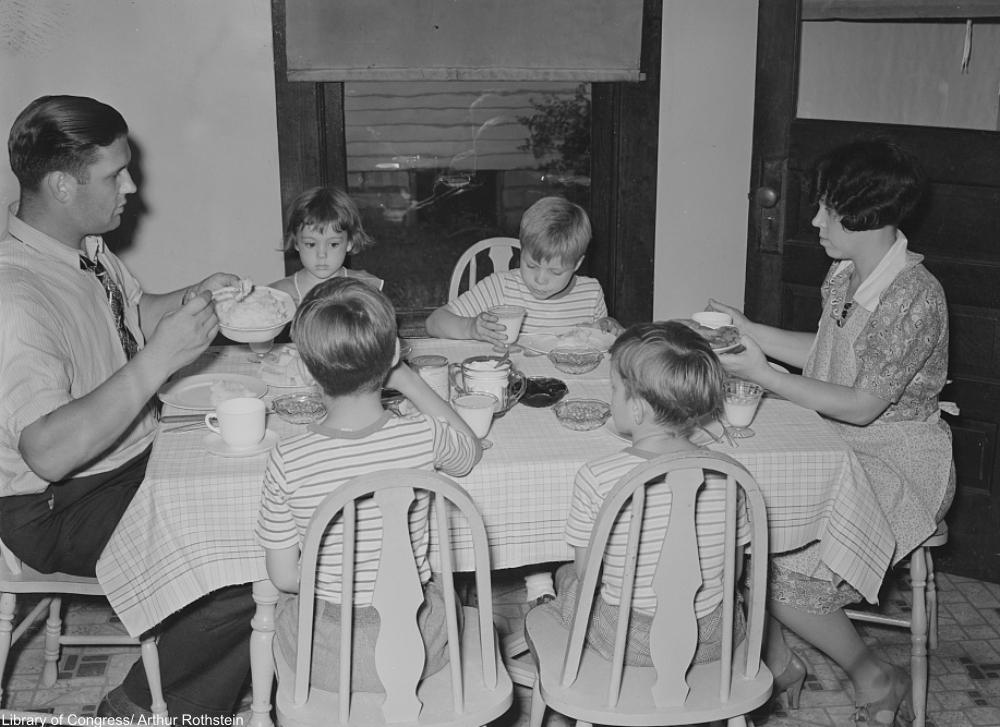 Depression Era dinners were far more modest than modern meals