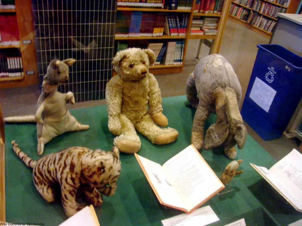 Christopher Robin's toys from the Winnie the Pooh Books