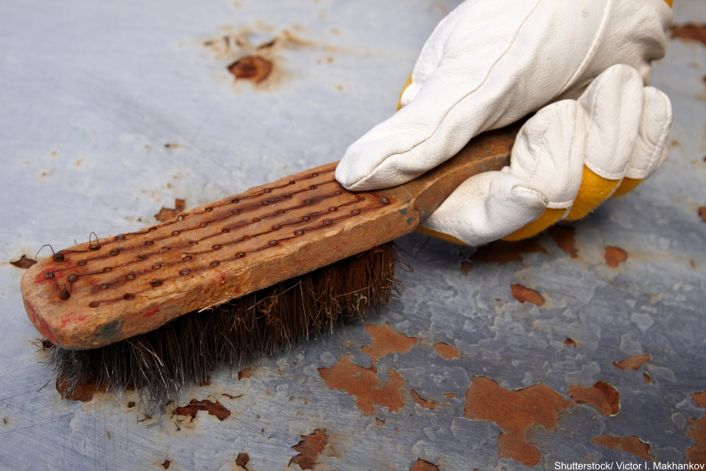 remove rust and lose paint with a wire brush