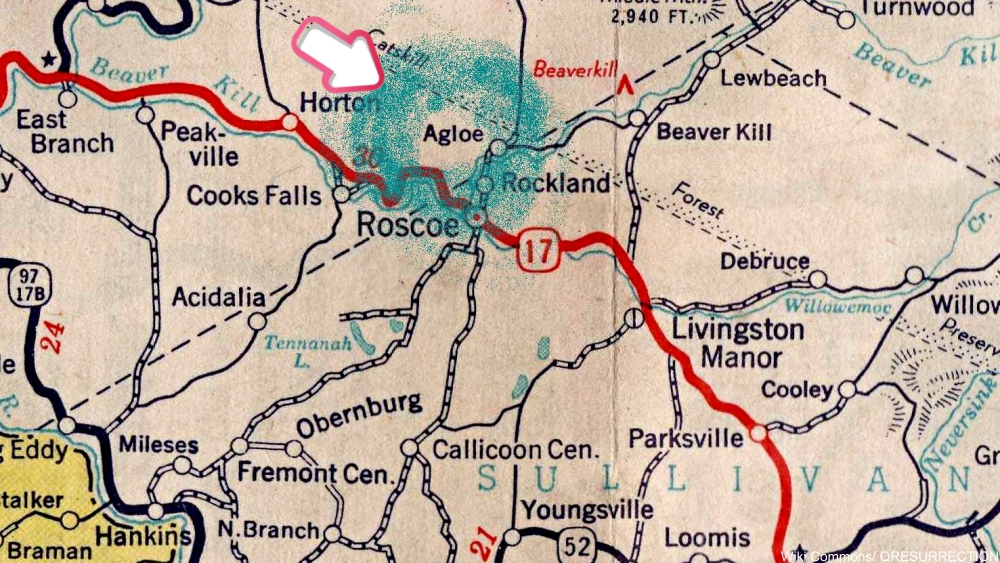 Agloe, NY, one of the most well-known paper towns