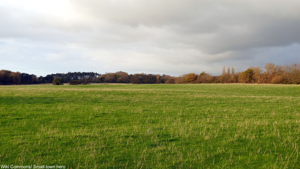 the empty land where Argleton, UK, is supposed to be