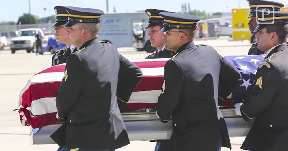 Screenshot/The Palm Beach Post -- Sgt. Tiny Sowell was given full military honors upon returning home for final rest.