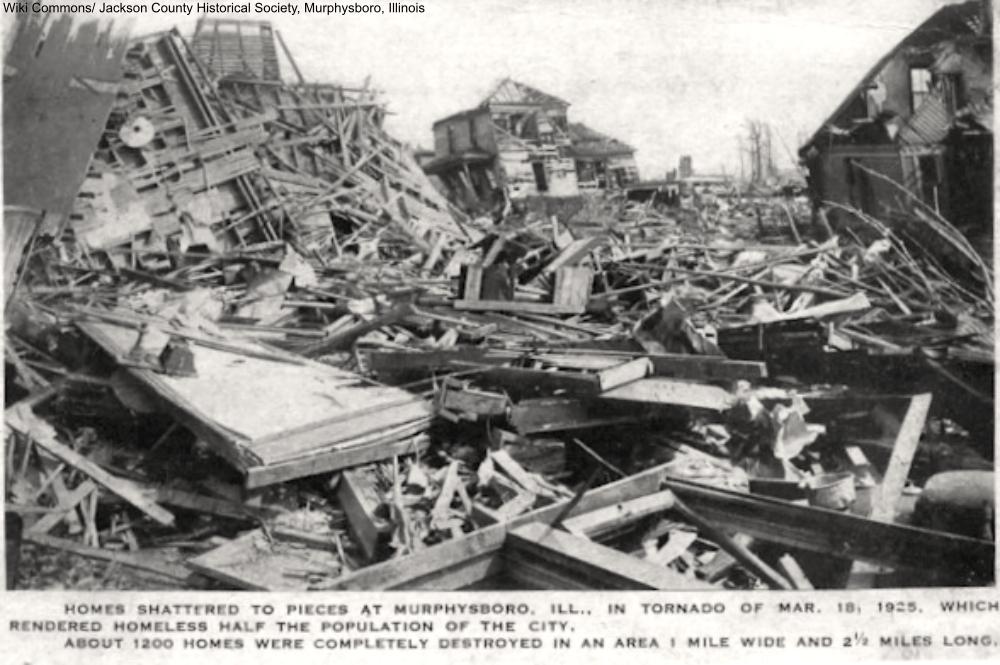 destruction in Murphysboro, IL, from the 1925 Tri-state Tornado