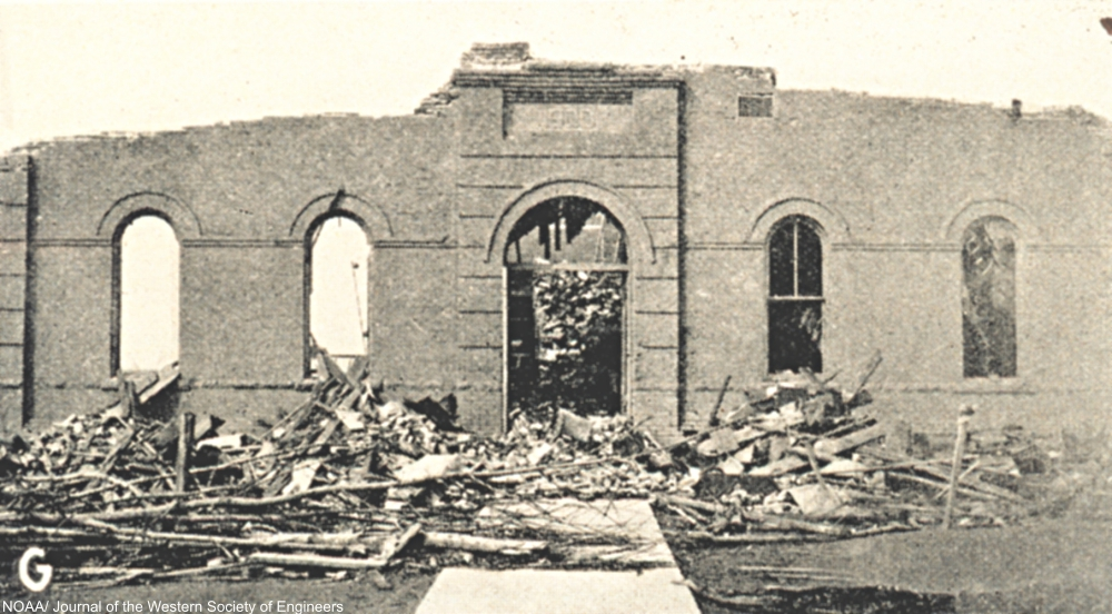 Elementary school in De Soto, IL, where 33 children were killed in the Tri-state Tornado of 1925