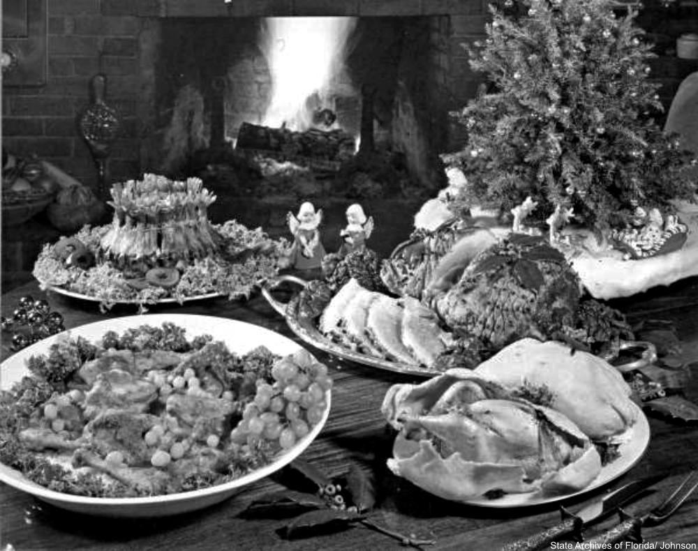 Christmas dinner of yore