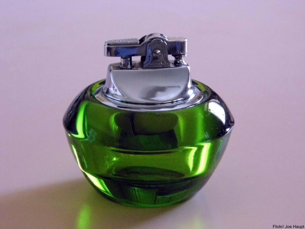 vintage glass table lighter