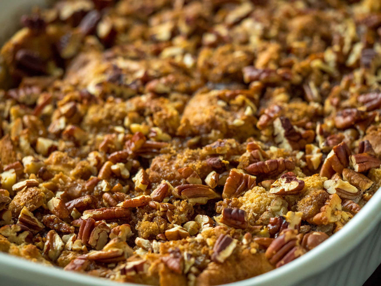 Pecan Pie Bread Pudding Casserole Horizontal 2