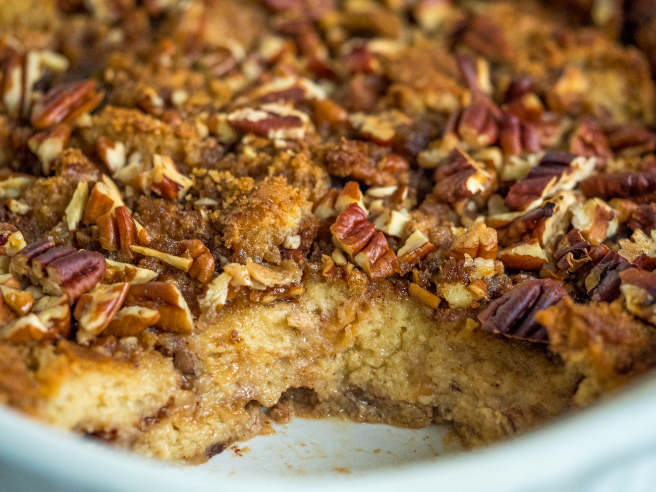 Pecan Pie Bread Pudding Casserole Horizontal 3