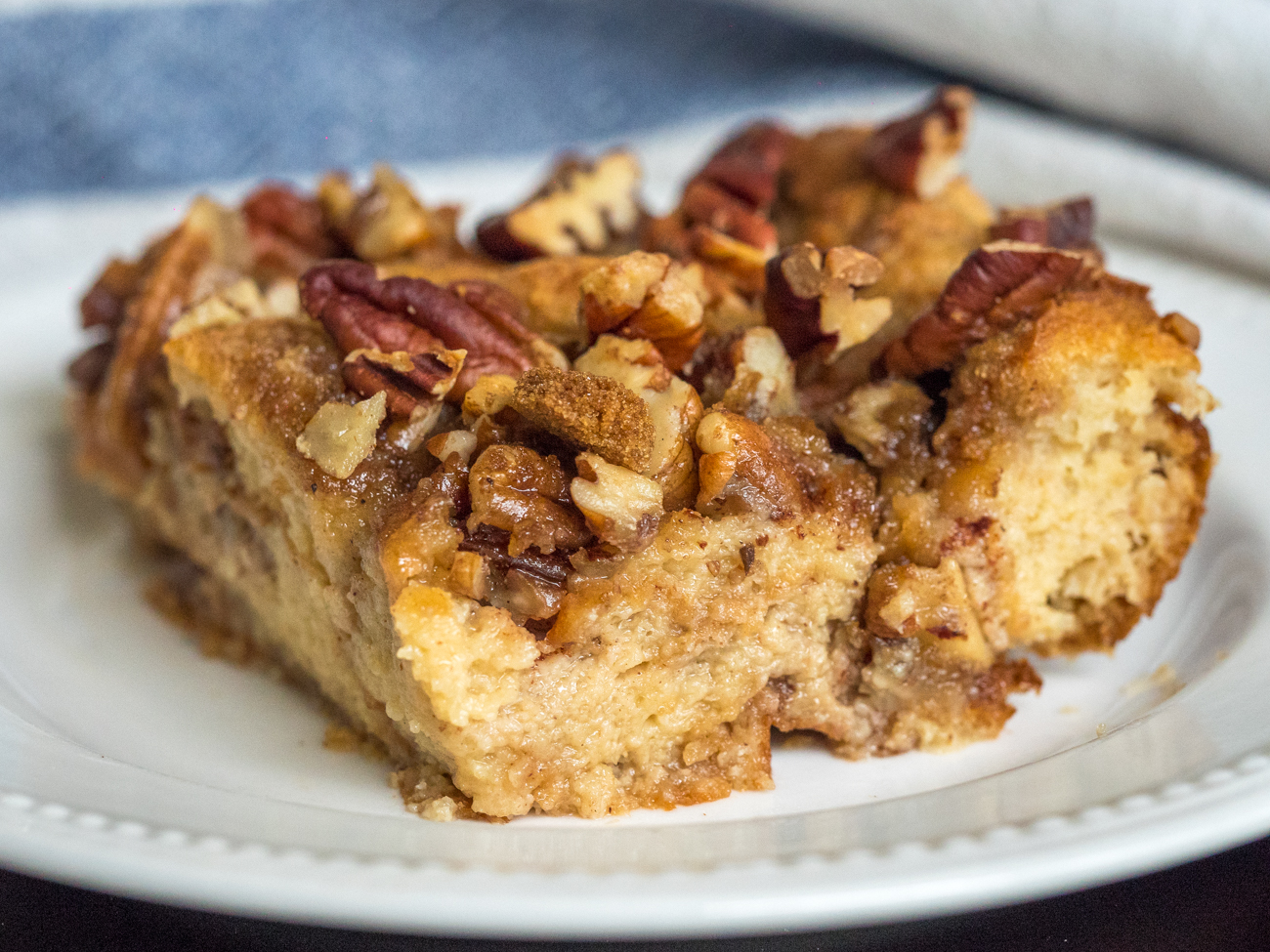 Pecan Pie Bread Pudding Casserole Horizontal 4