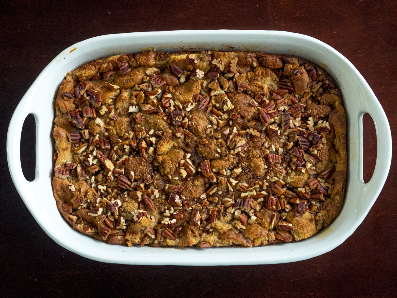 Pecan Pie Bread Pudding Casserole Horizontal 5