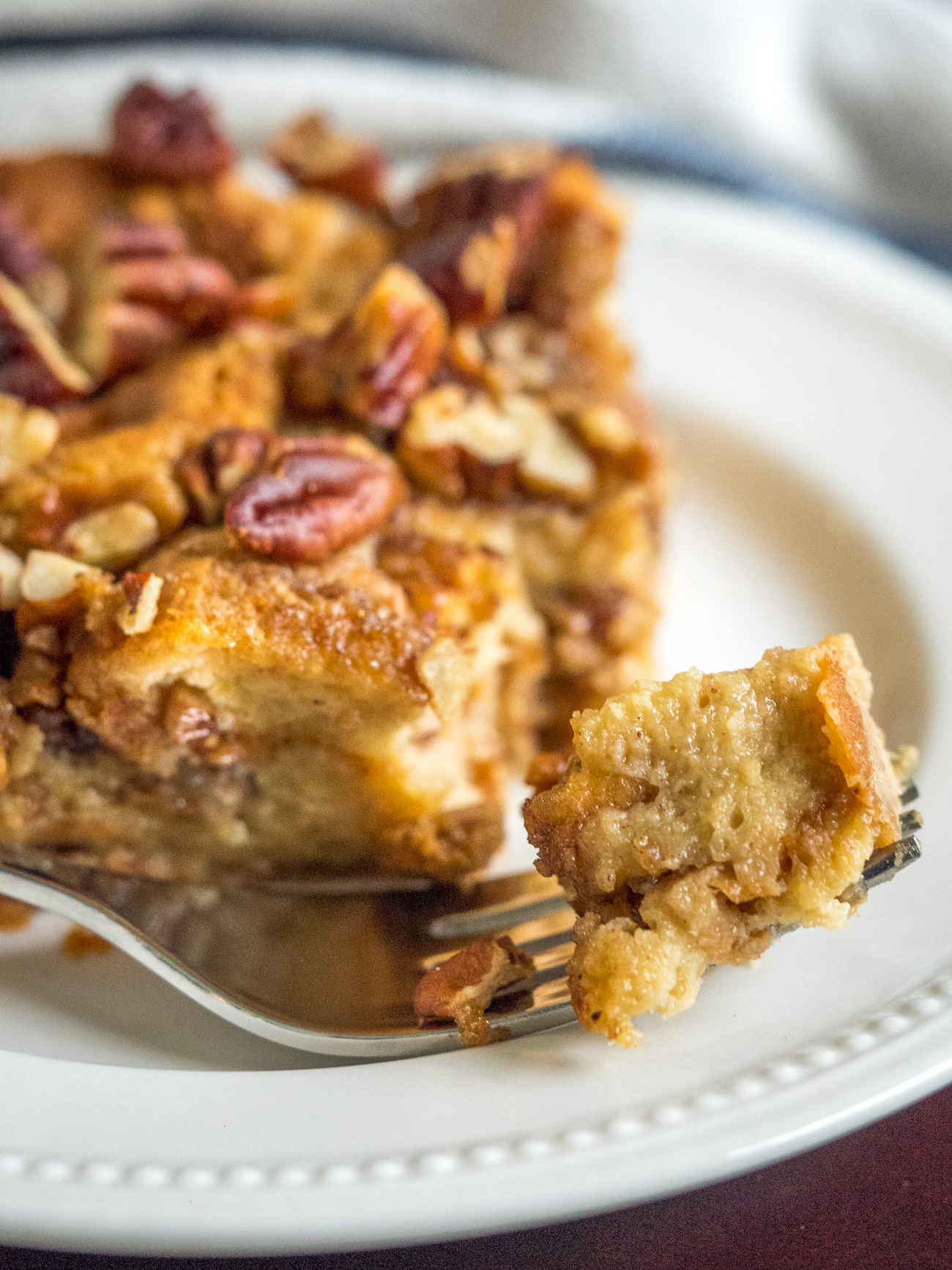 Pecan Pie Bread Pudding Casserole Vertical 1