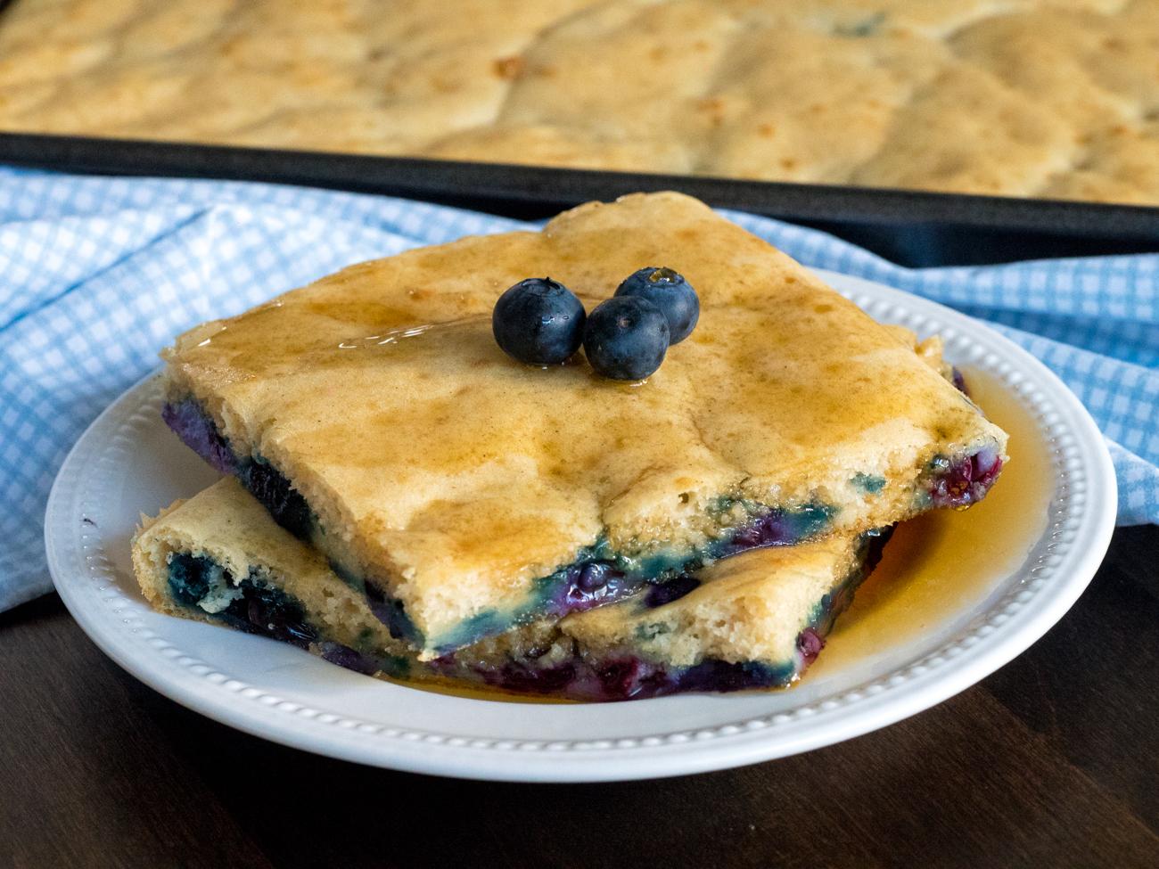 Sheet Pan Blueberry Pancakes Horizontal 3