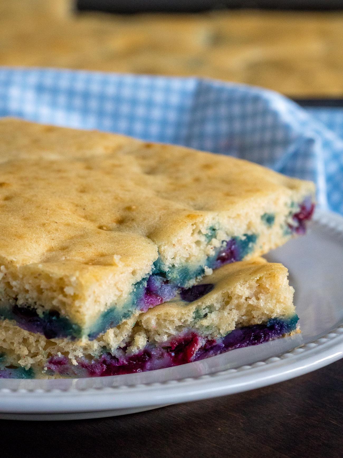 Sheet Pan Blueberry Pancakes Vertical 4