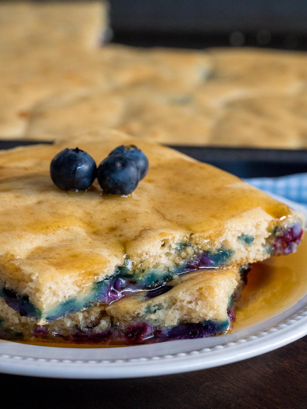 Sheet Pan Blueberry Pancakes Vertical 5