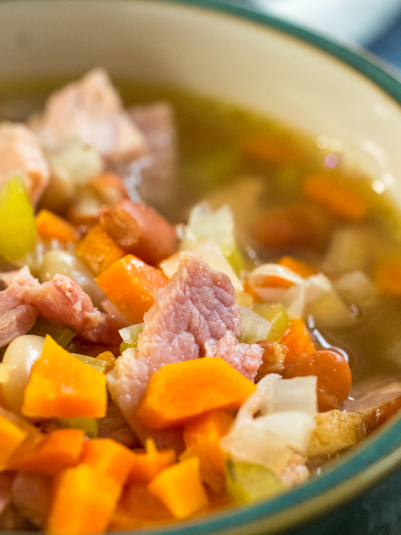 Slow Cooker Ham and Bean Soup Vertical 2