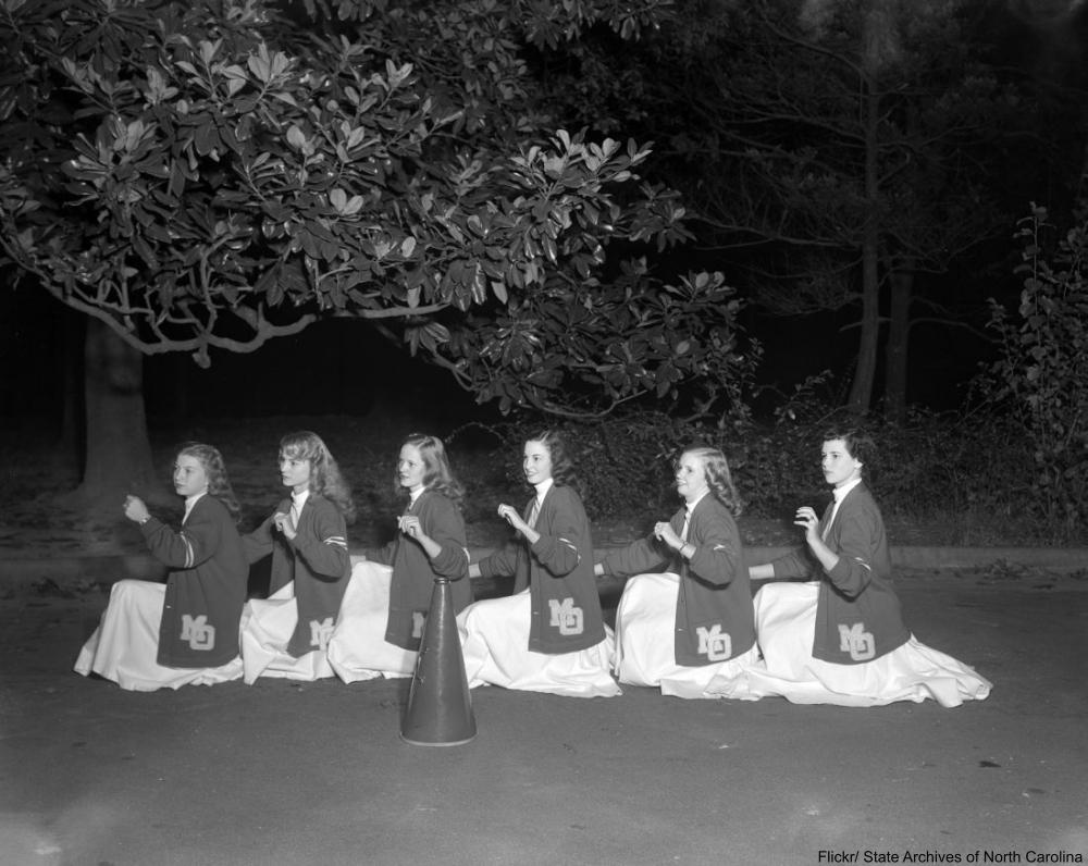 cheerleaders in 1949