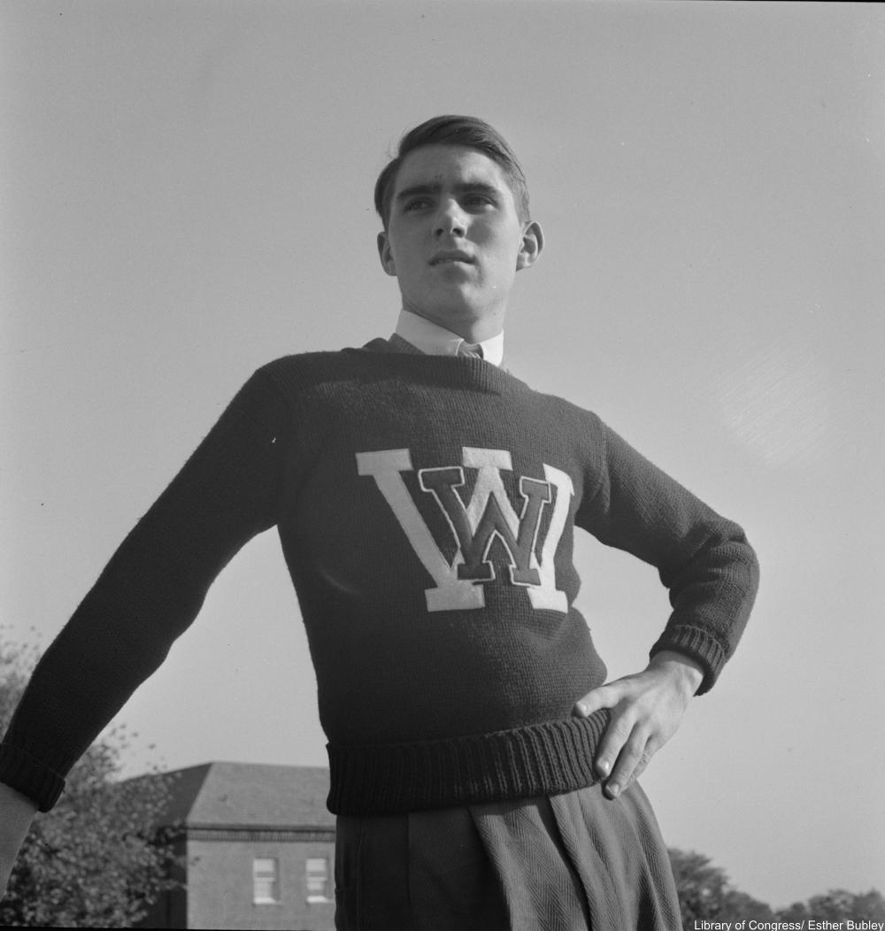 Washington, D.C. Cheerleaders at Woodrow Wilson High School, 1943