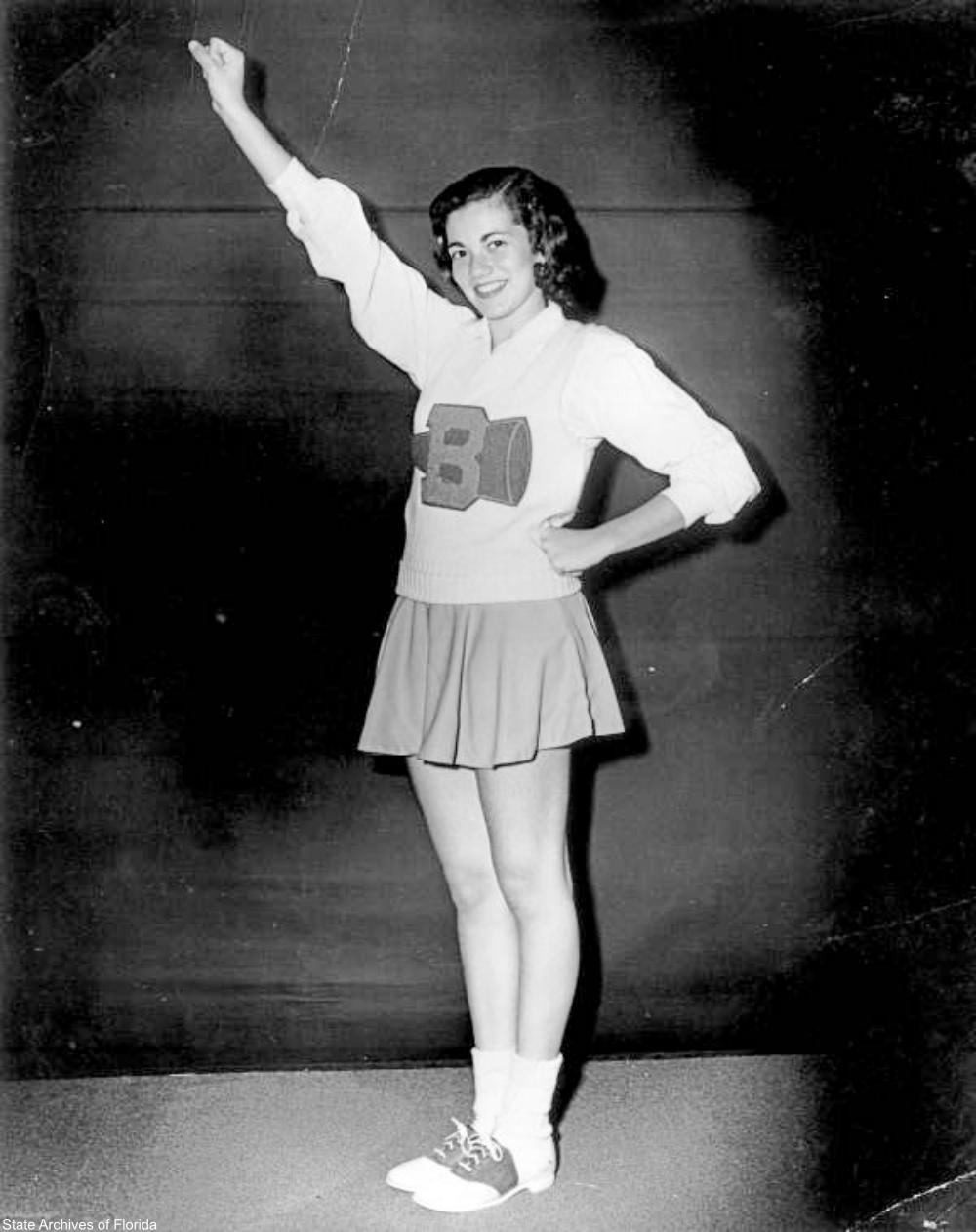 1954 cheerleader in Hollywood, Florida