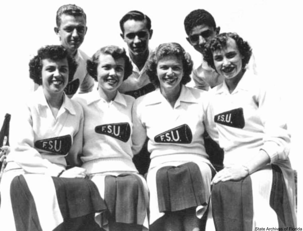 1940s Florida State University cheerleaders