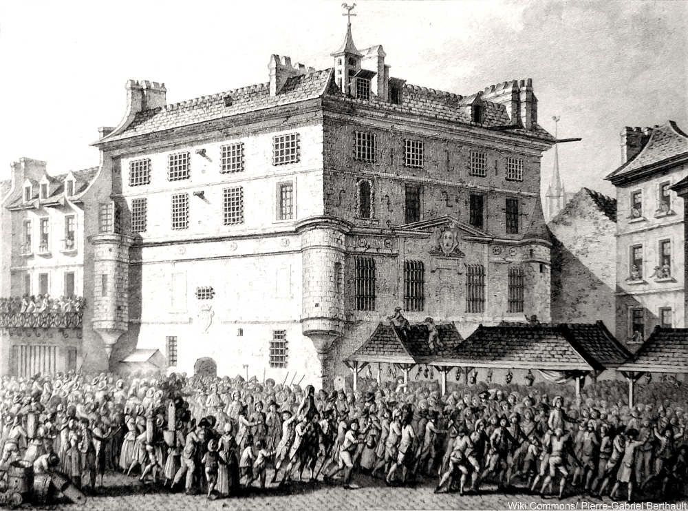 The people delivering the French guards to the abbey St-Germain, June 30, 1789