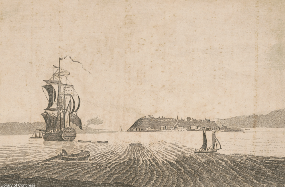 18th century ship depicted in an engraving
