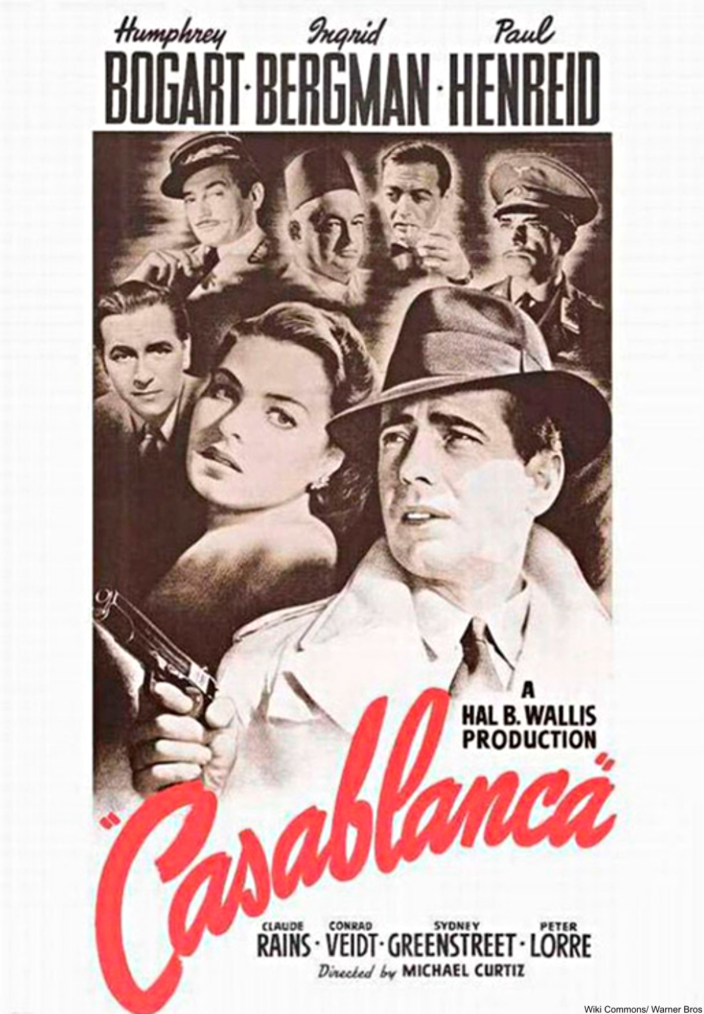 Casablanca movie poster (1942)