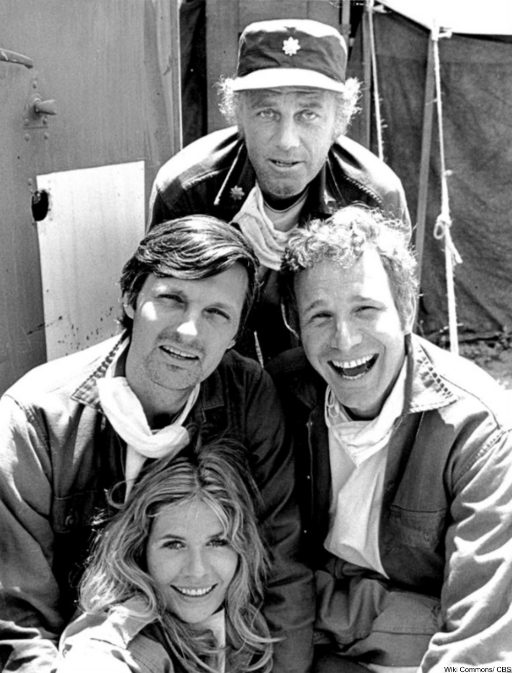 4 cast members from the TV show M*A*S*H