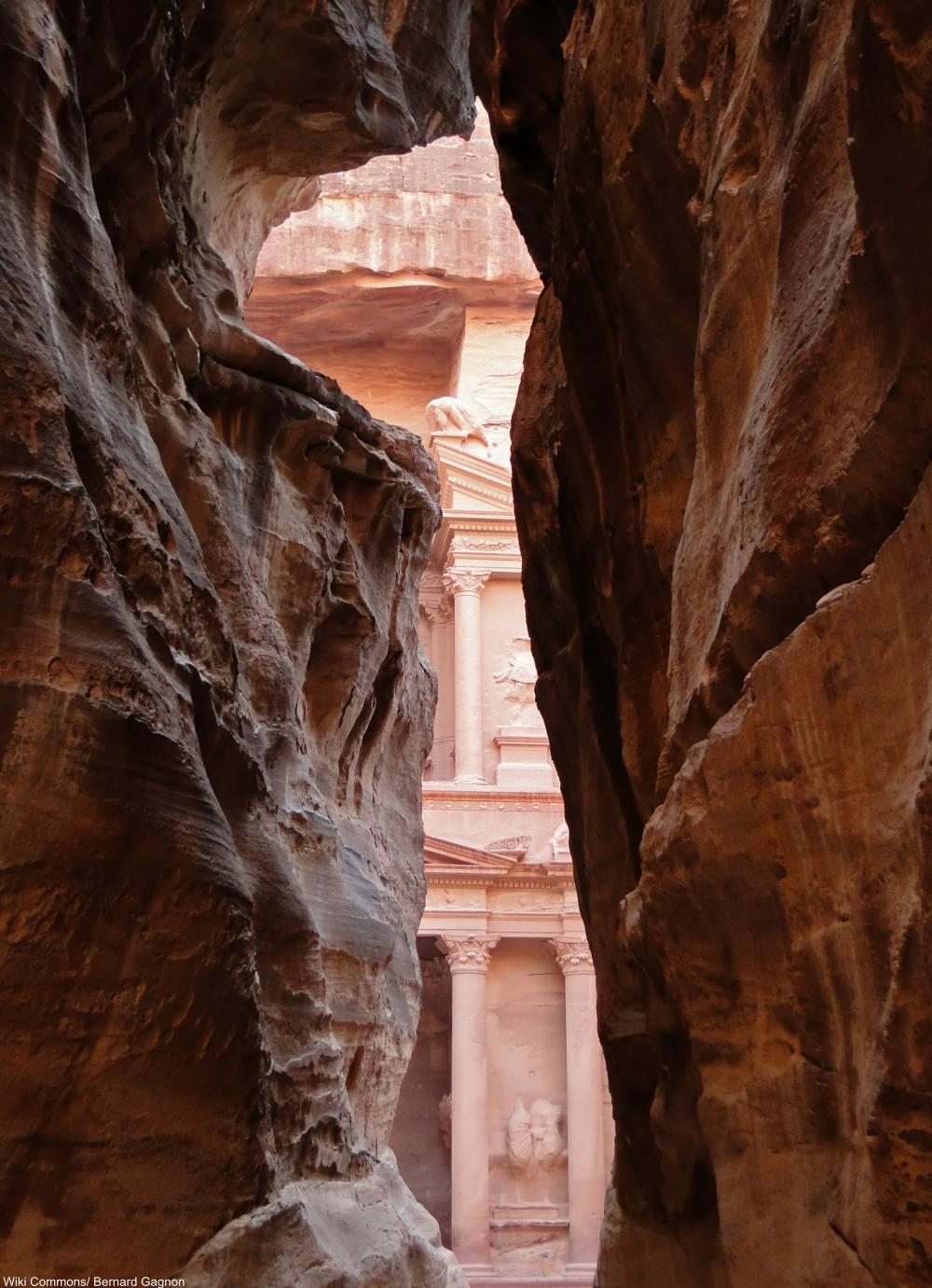 the ancient Jordanian city of Petra