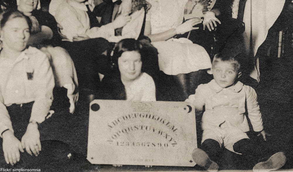 early ouija board at a party