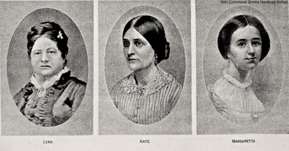engravings of the Fox Sisters
