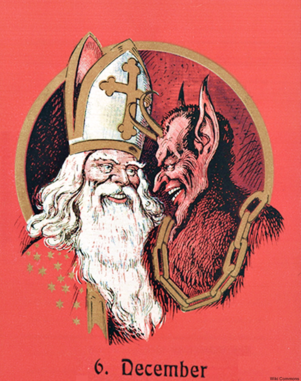 Santa and Krampus are still closely associated in some European countries
