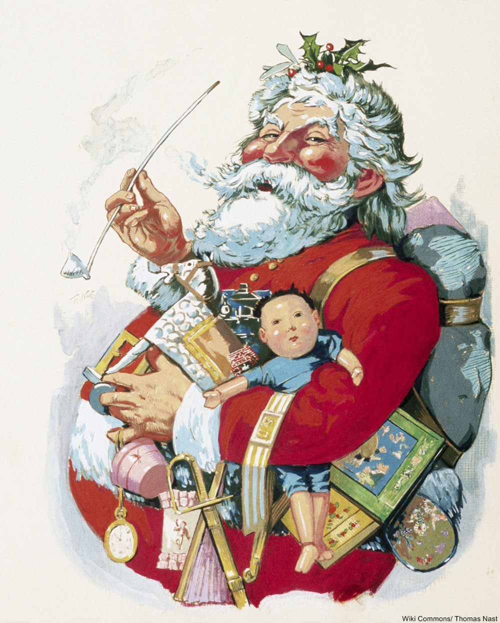 Thomas Nast 1863 Santa is an early example of what we now think of at Christmastime.