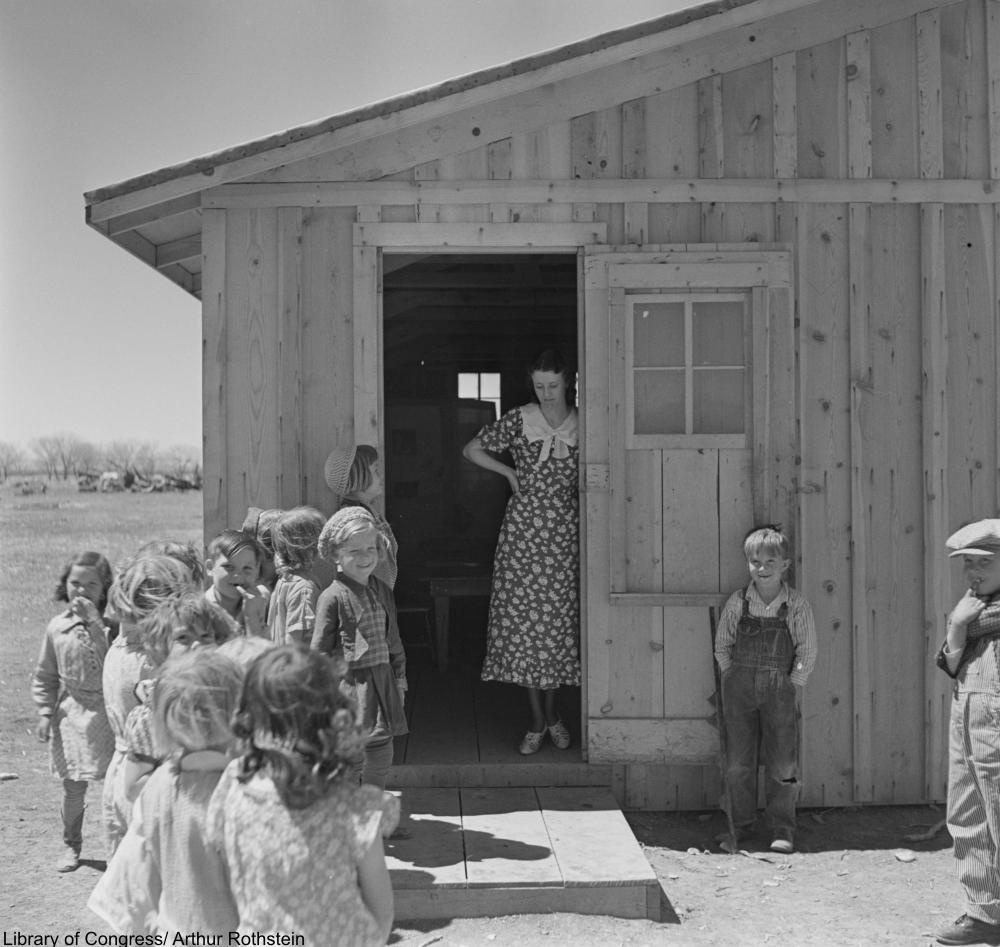 temporary schoolhouse, New Mexico, 1936.