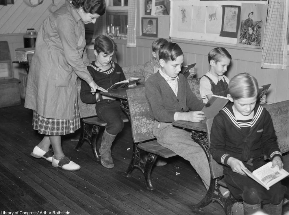 one room schoolhouse in Albany, NY, 1937