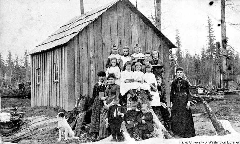first schoolhouse in Sultan, Washington, 1895