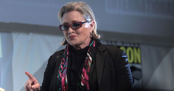 Source: Wikimedia Commons CarrieFisher in 2015.