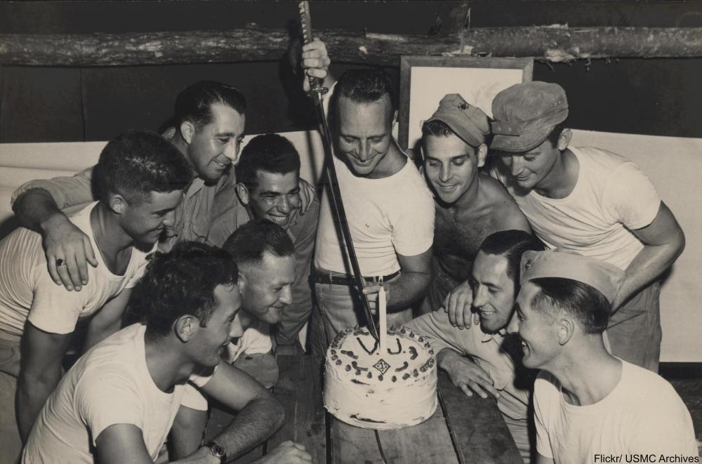 Marines celebrate VJ Day