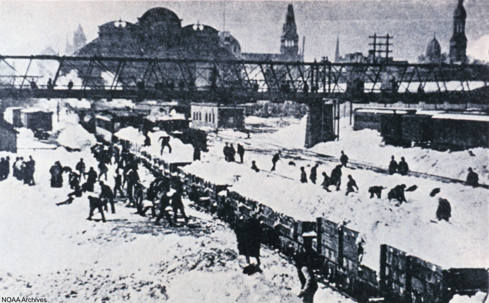 Blizzard of 1888, Grand Central Depot, NYC