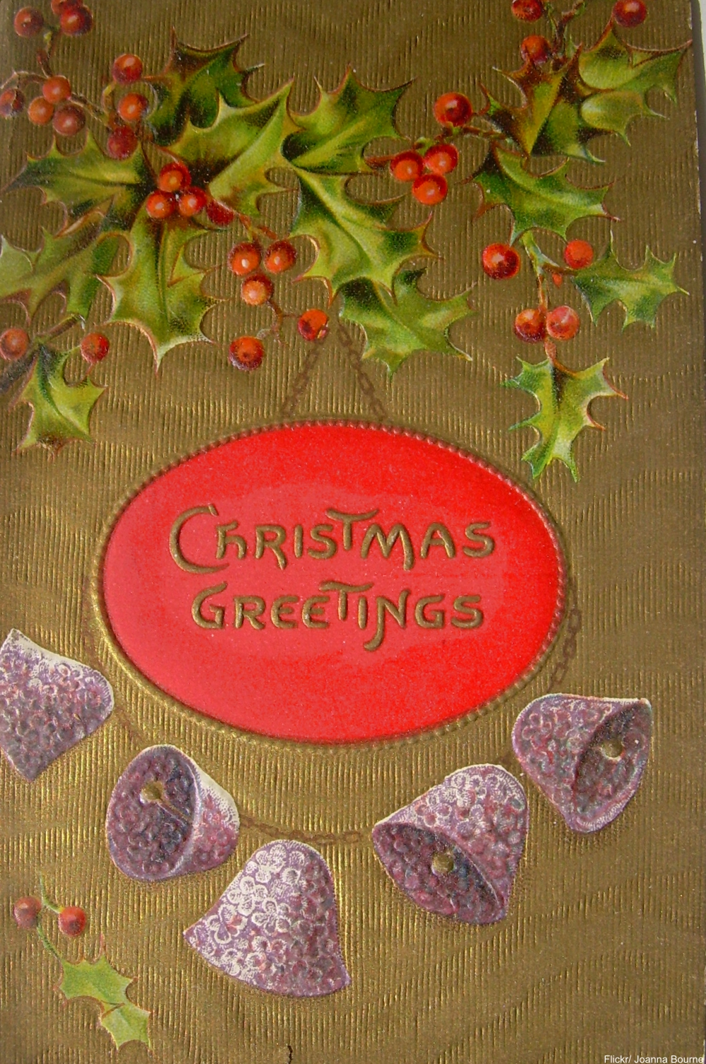 vintage embossed Christmas card