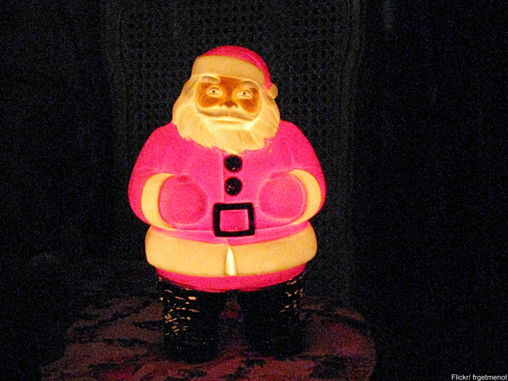 vintage light up Santa