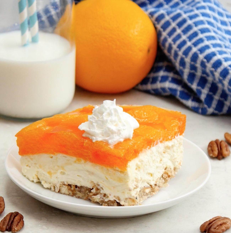 Pretzel Orange Lasagna 1