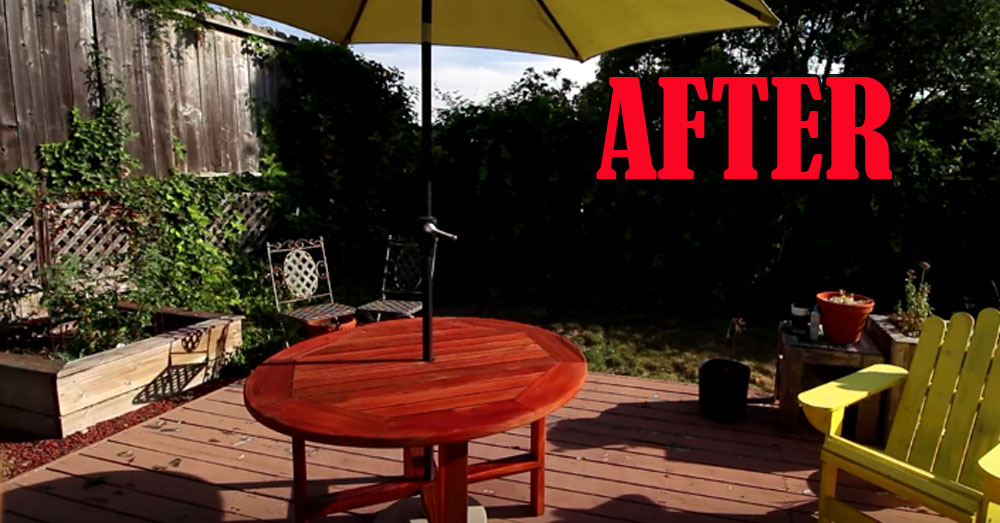 after deck finish