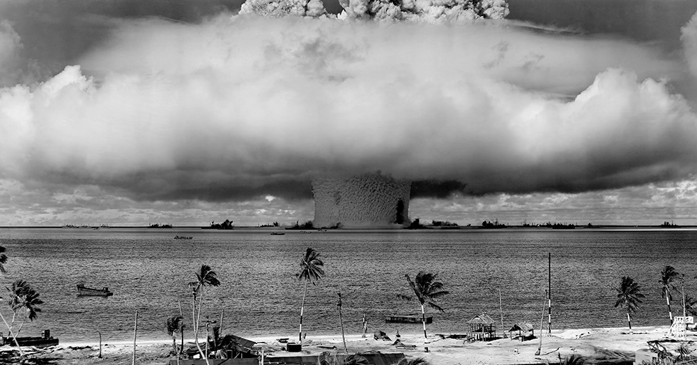 Photo: Wikimedia Commons -- An atomic explosion test performed in 1946.