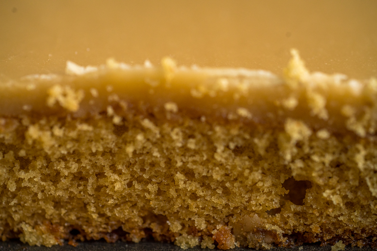 Salted Caramel Frosted Brown Sugar Sheet Cake Horizontal 3